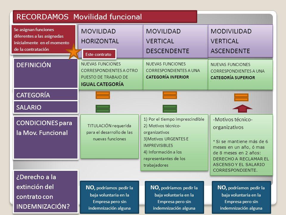 TITULACIÓN requerida para el desarrollo de las nuevas funciones