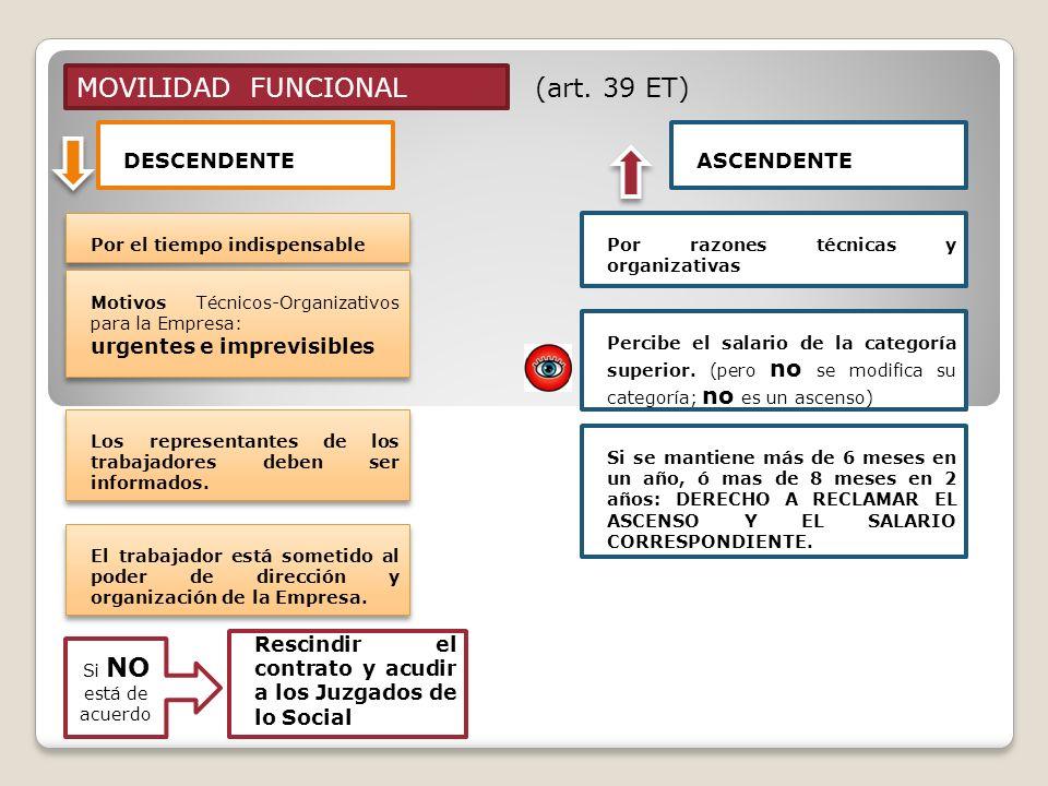 MOVILIDAD FUNCIONAL (art. 39 ET) DESCENDENTE ASCENDENTE