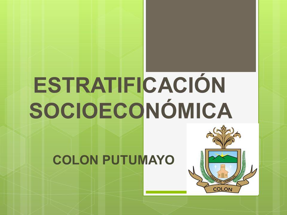 ESTRATIFICACIÓN SOCIOECONÓMICA