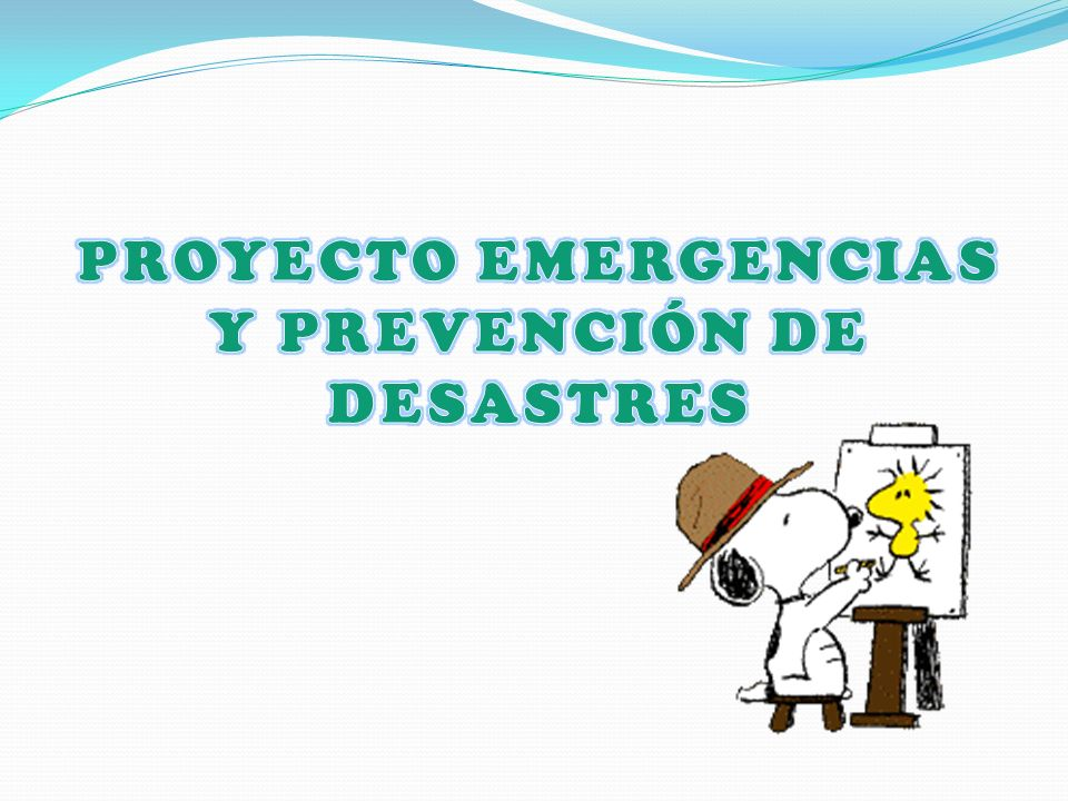 PROYECTO EMERGENCIAS Y PREVENCIÓN DE DESASTRES