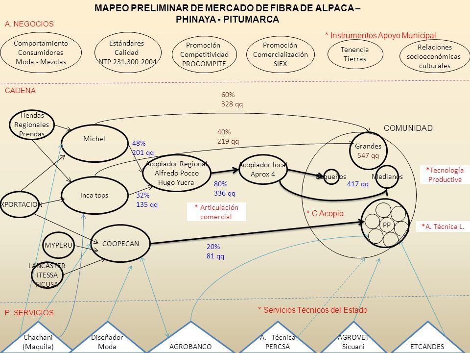 MAPEO PRELIMINAR DE MERCADO DE FIBRA DE ALPACA – PHINAYA - PITUMARCA