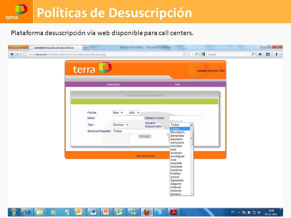 Políticas de Desuscripción