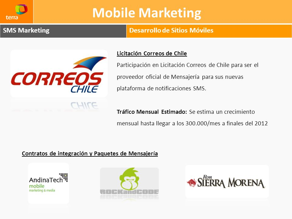 Mobile Marketing SMS Marketing Desarrollo de Sitios Móviles