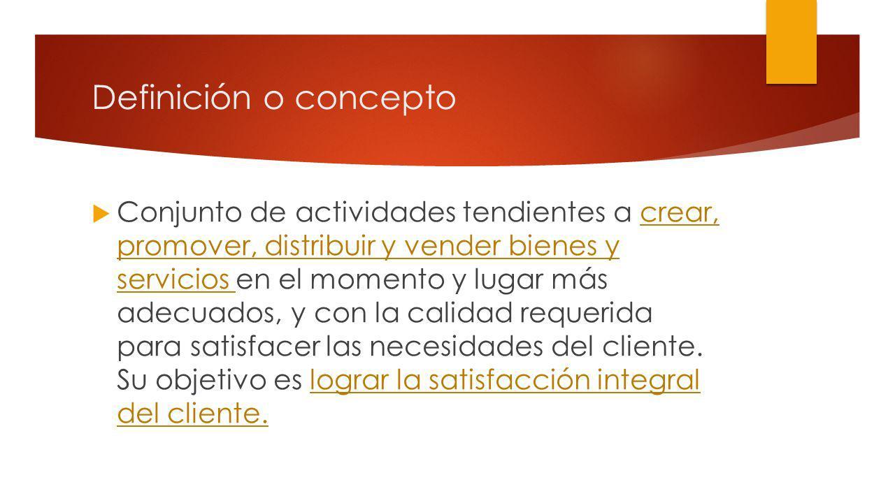 Definición o concepto
