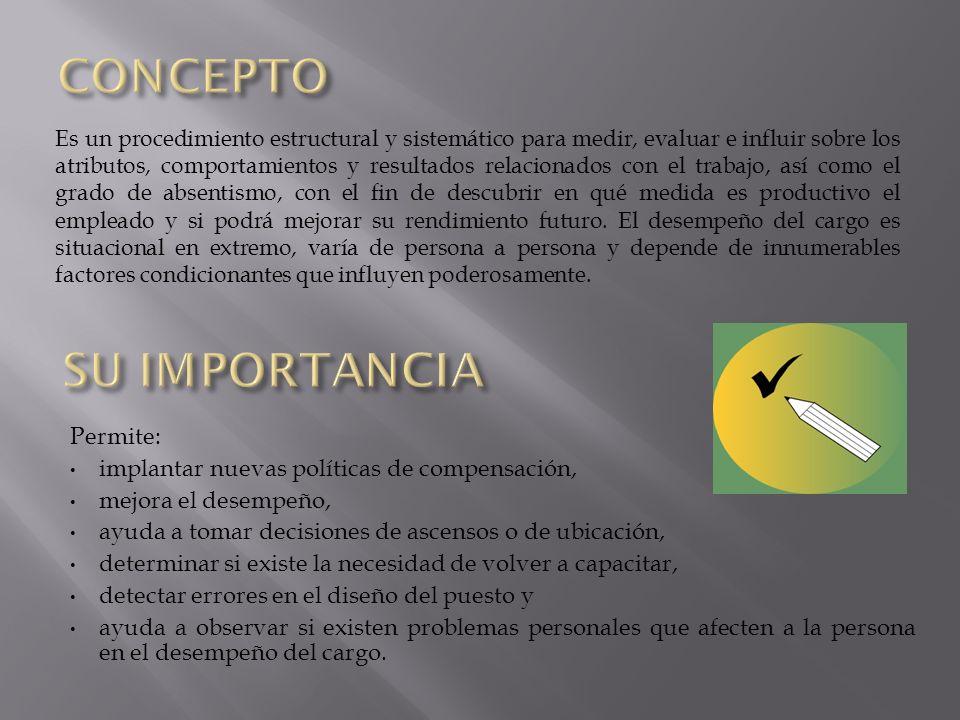 CONCEPTO SU IMPORTANCIA Permite: