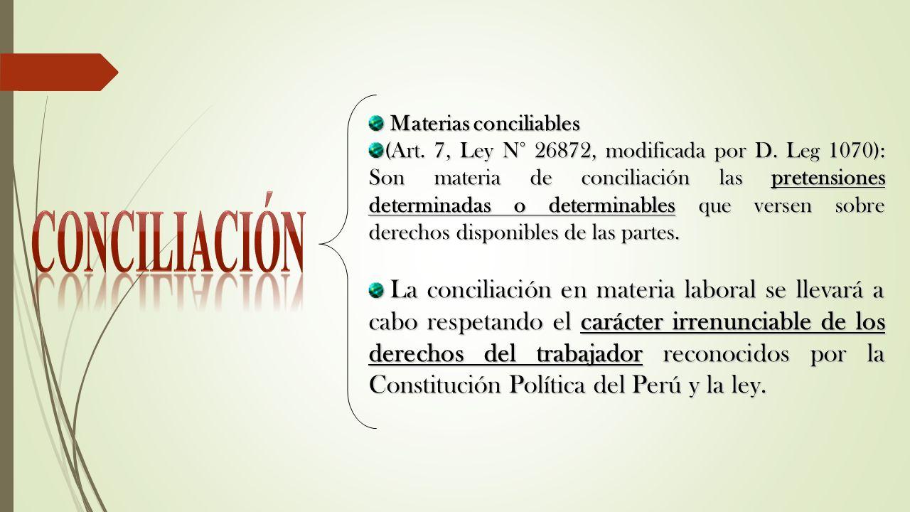 CONCILIACIÓN Materias conciliables