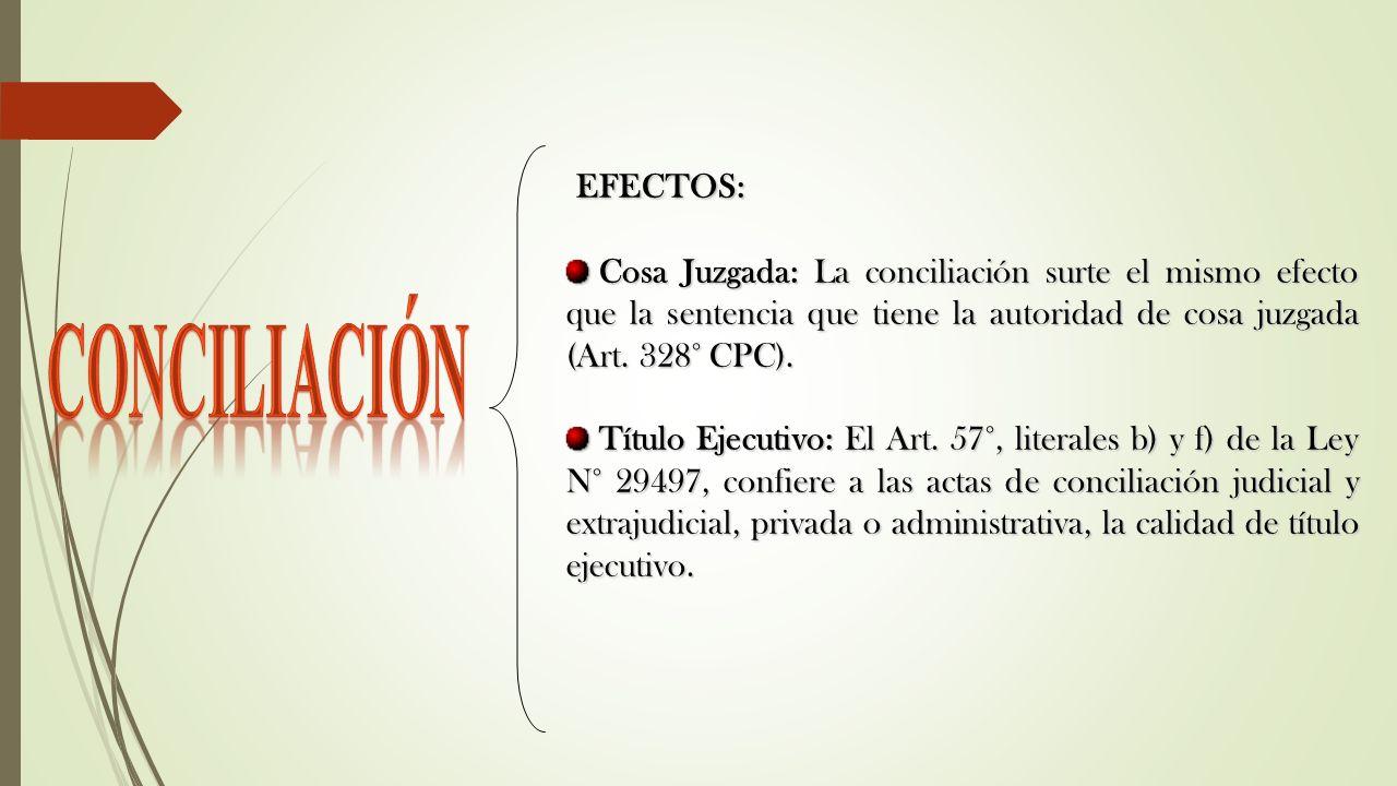 CONCILIACIÓN EFECTOS: