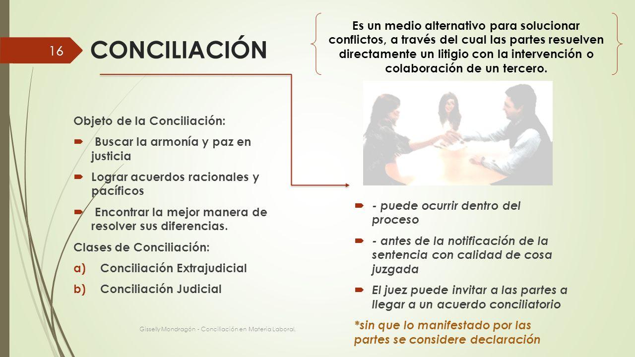 Es un medio alternativo para solucionar conflictos, a través del cual las partes resuelven directamente un litigio con la intervención o colaboración de un tercero.