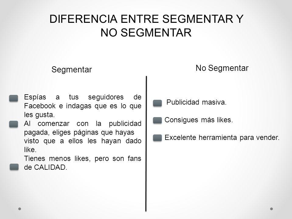 DIFERENCIA ENTRE SEGMENTAR Y NO SEGMENTAR
