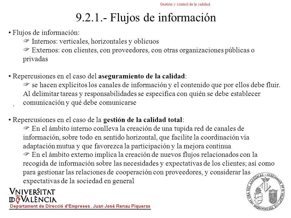 9.2.1.- Flujos de información