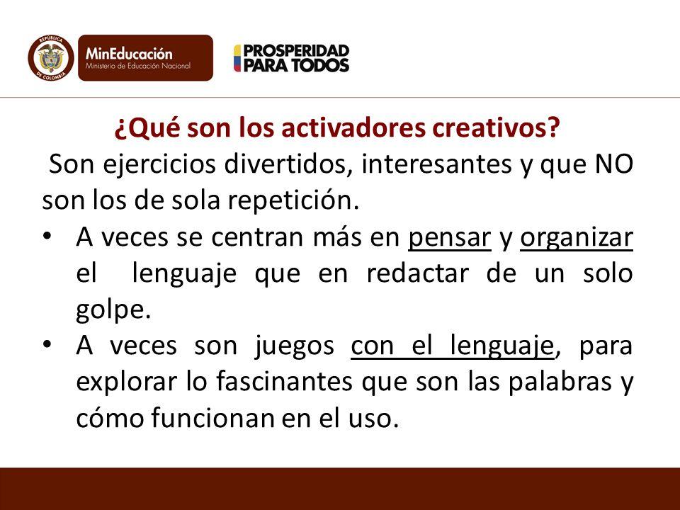 ¿Qué son los activadores creativos