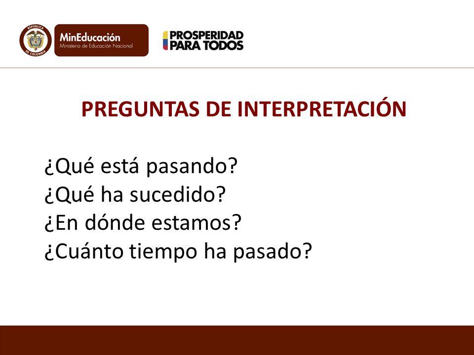 PREGUNTAS DE INTERPRETACIÓN