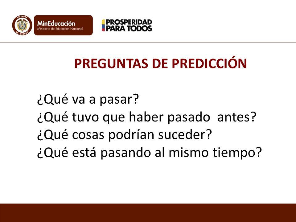 PREGUNTAS DE PREDICCIÓN