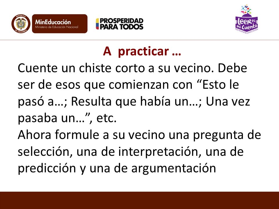 A practicar …