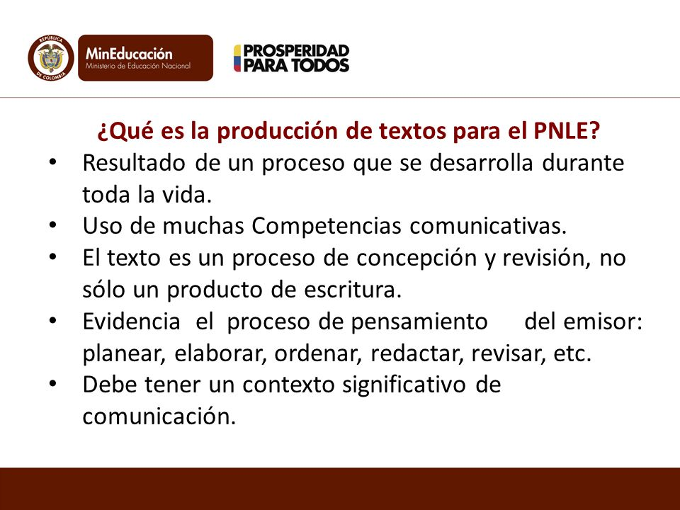 ¿Qué es la producción de textos para el PNLE