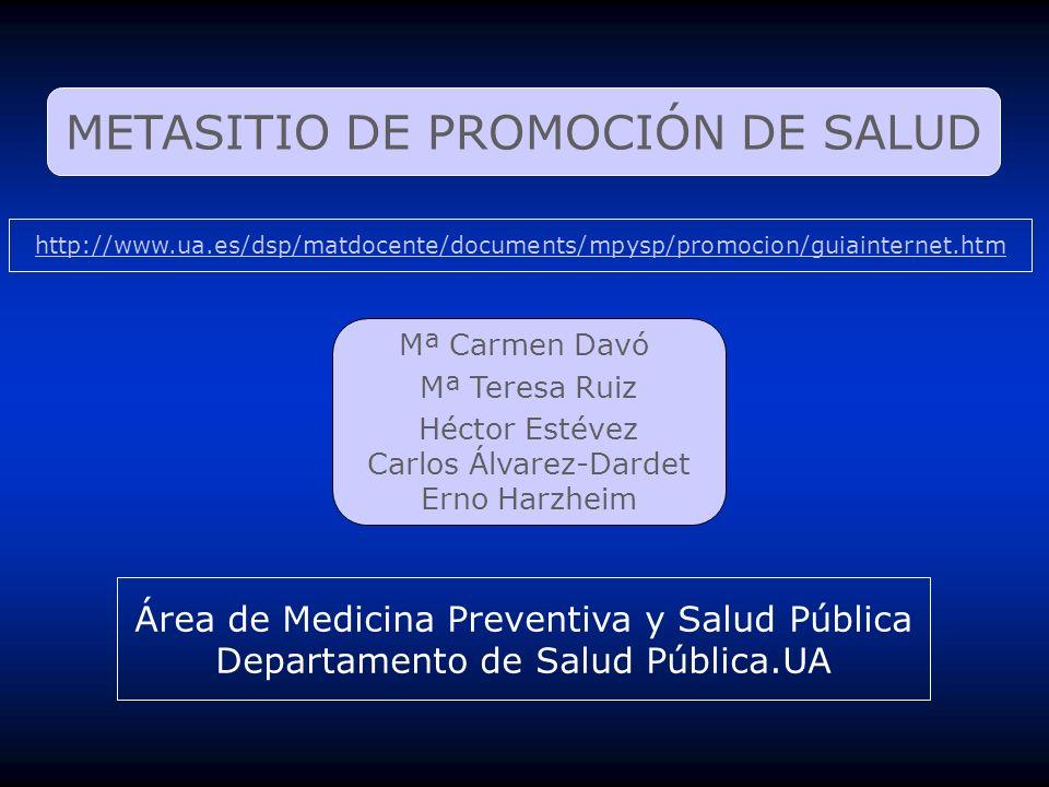 METASITIO DE PROMOCIÓN DE SALUD
