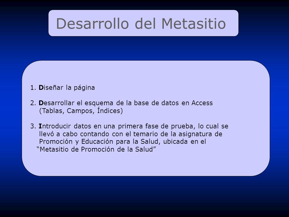 Desarrollo del Metasitio