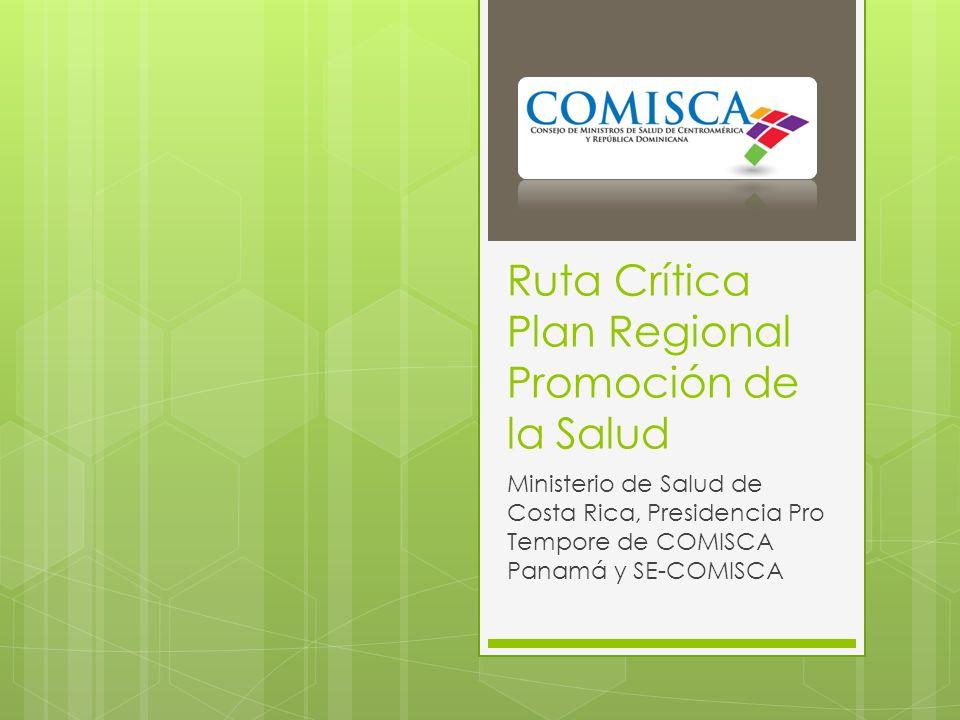 Ruta Crítica Plan Regional Promoción de la Salud