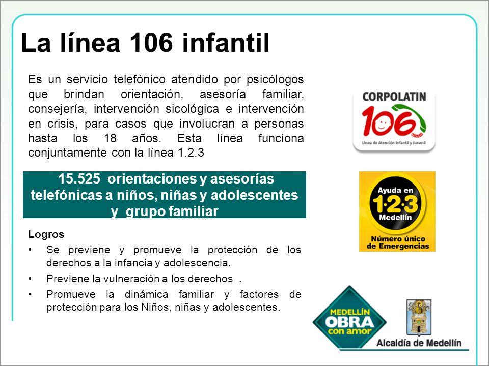 La línea 106 infantil