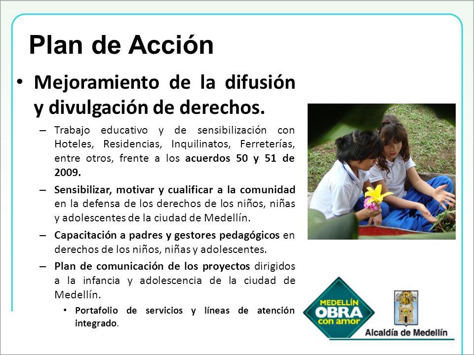 Plan de Acción Mejoramiento de la difusión y divulgación de derechos.