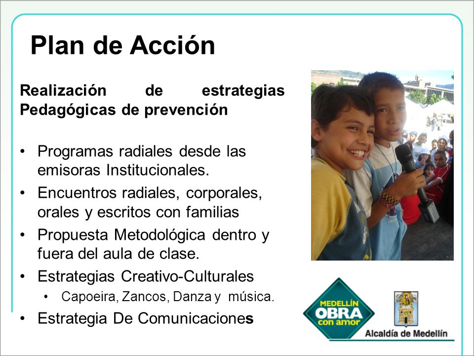 Plan de Acción Realización de estrategias Pedagógicas de prevención