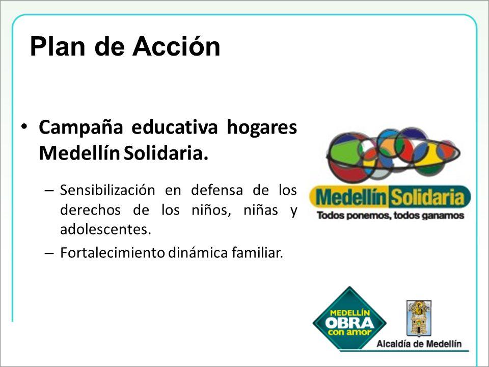 Plan de Acción Campaña educativa hogares Medellín Solidaria.
