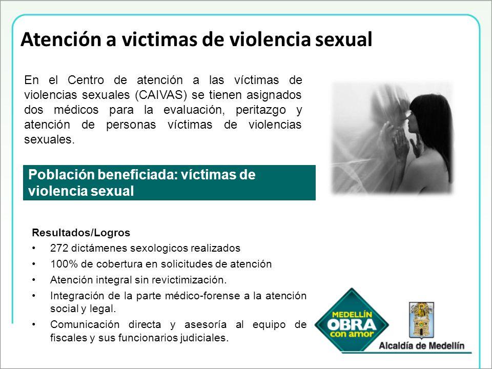 Atención a victimas de violencia sexual