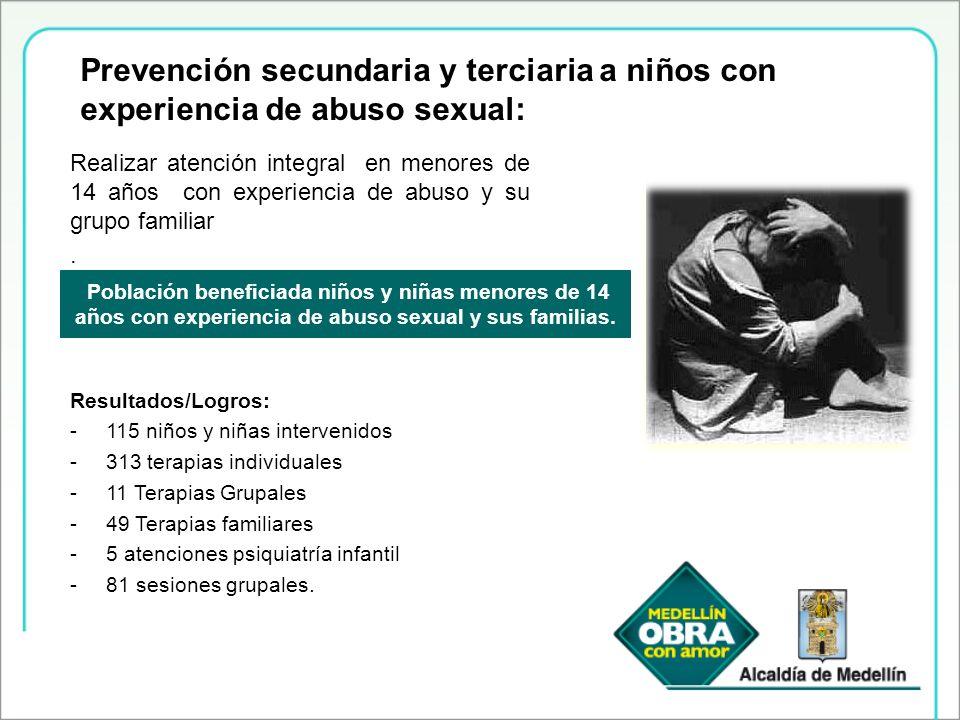 Prevención secundaria y terciaria a niños con experiencia de abuso sexual: