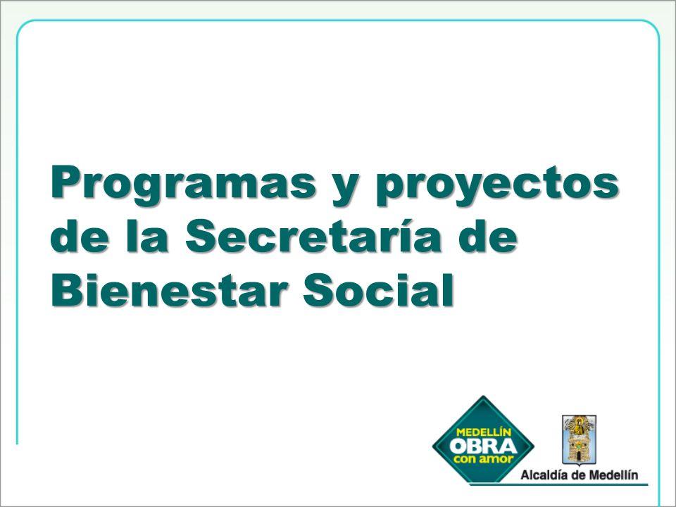 Programas y proyectos de la Secretaría de Bienestar Social