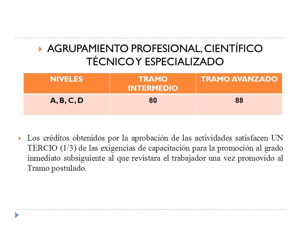 AGRUPAMIENTO PROFESIONAL, CIENTÍFICO TÉCNICO Y ESPECIALIZADO