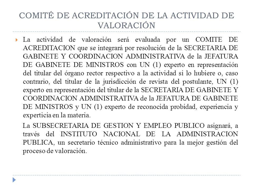 COMITÉ DE ACREDITACIÓN DE LA ACTIVIDAD DE VALORACIÓN