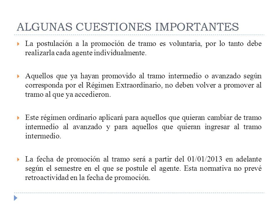 ALGUNAS CUESTIONES IMPORTANTES
