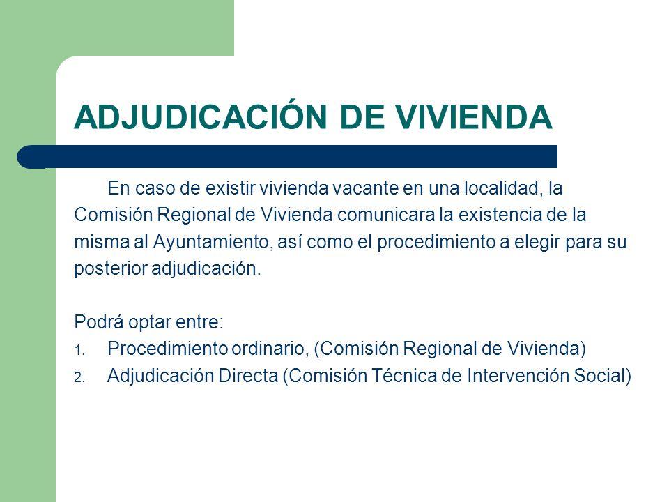 ADJUDICACIÓN DE VIVIENDA