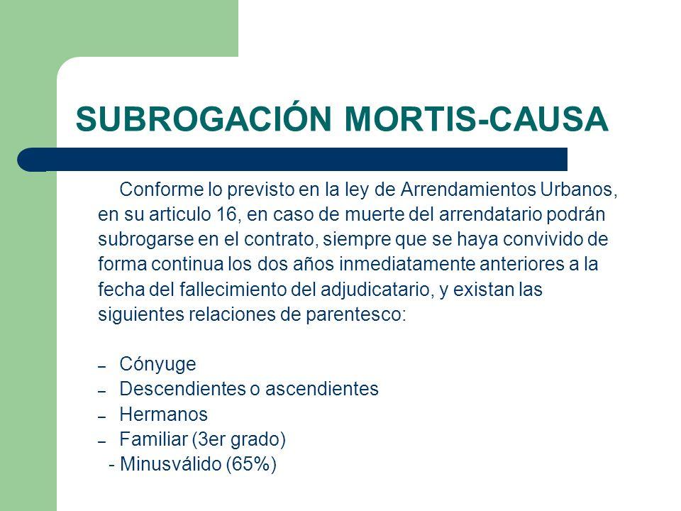 SUBROGACIÓN MORTIS-CAUSA