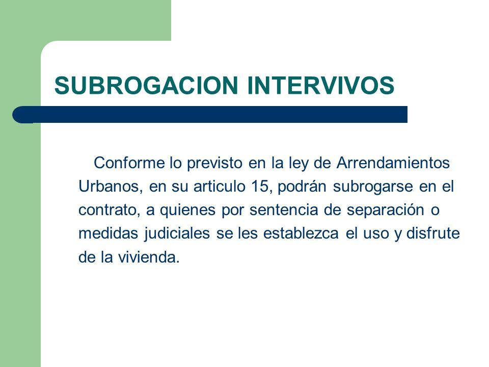 SUBROGACION INTERVIVOS