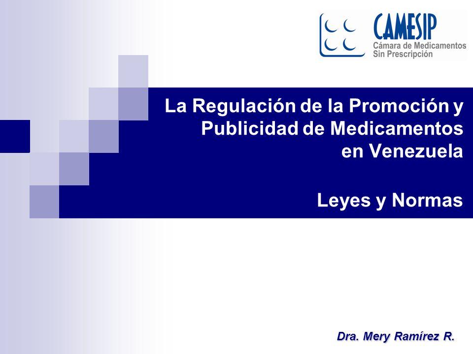 La Regulación de la Promoción y Publicidad de Medicamentos en Venezuela Leyes y Normas