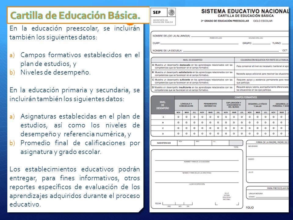 Cartilla de Educación Básica.