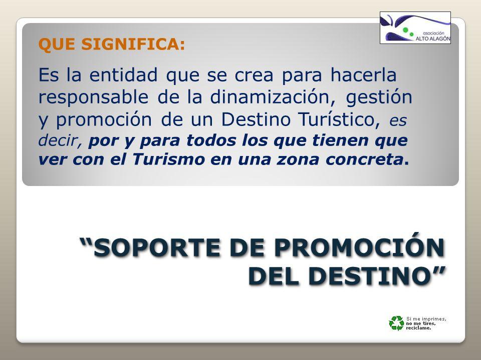 SOPORTE DE PROMOCIÓN DEL DESTINO
