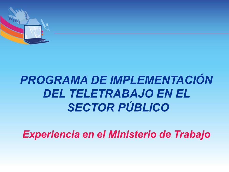 PROGRAMA DE IMPLEMENTACIÓN DEL TELETRABAJO EN EL SECTOR PÚBLICO