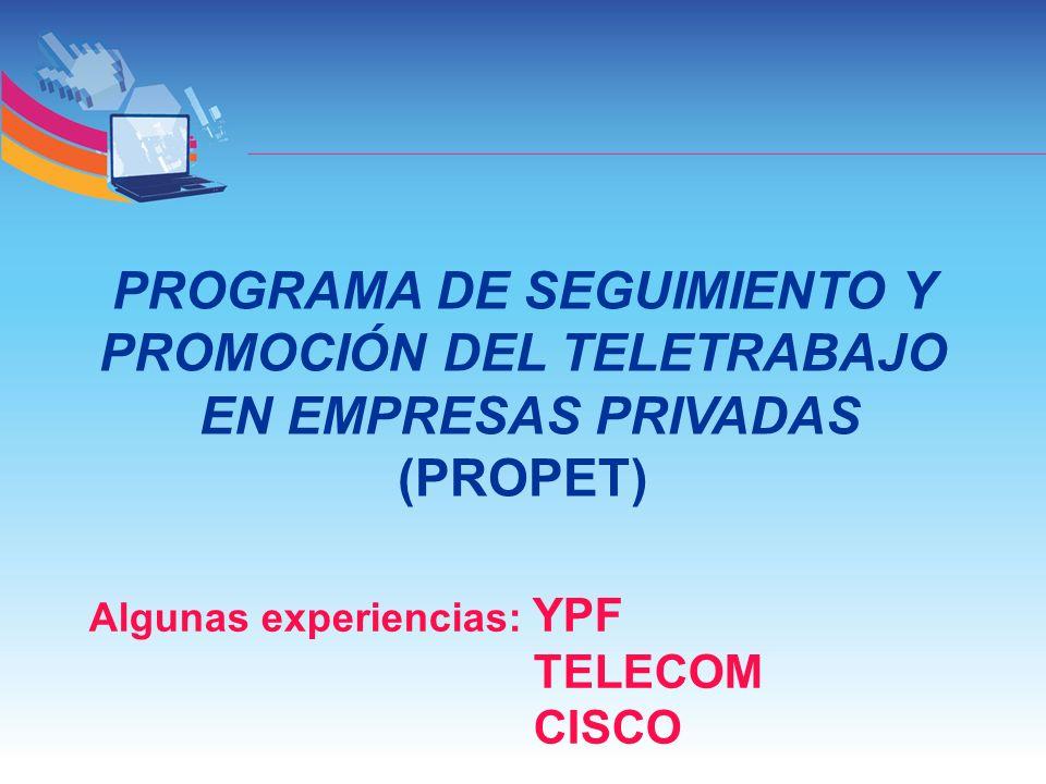 PROGRAMA DE SEGUIMIENTO Y PROMOCIÓN DEL TELETRABAJO