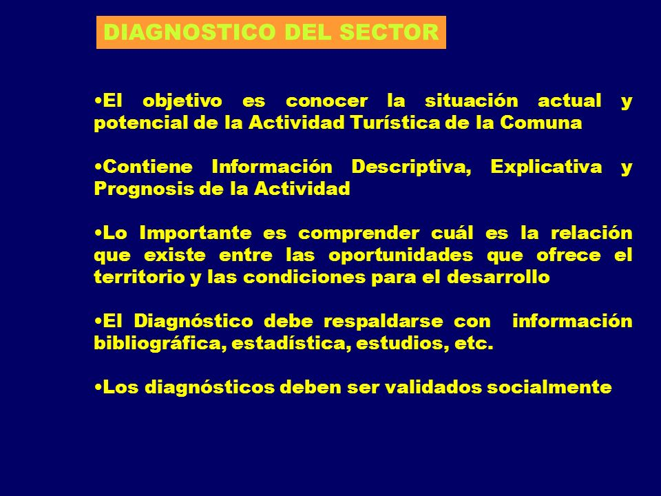 DIAGNOSTICO DEL SECTOR