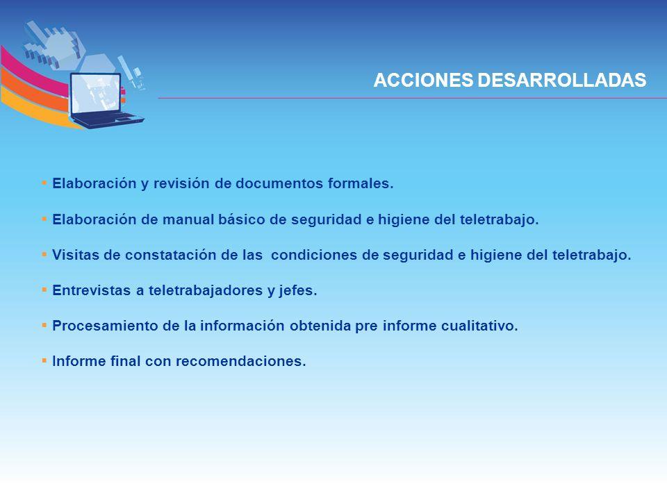 ACCIONES DESARROLLADAS