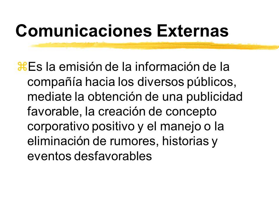 Comunicaciones Externas