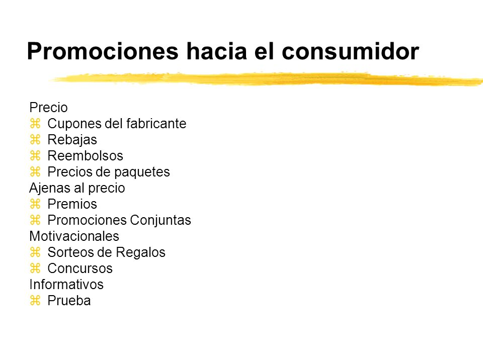 Promociones hacia el consumidor
