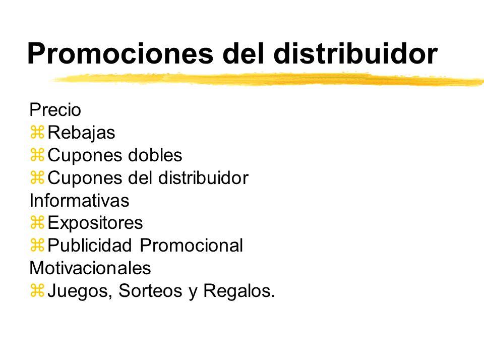 Promociones del distribuidor