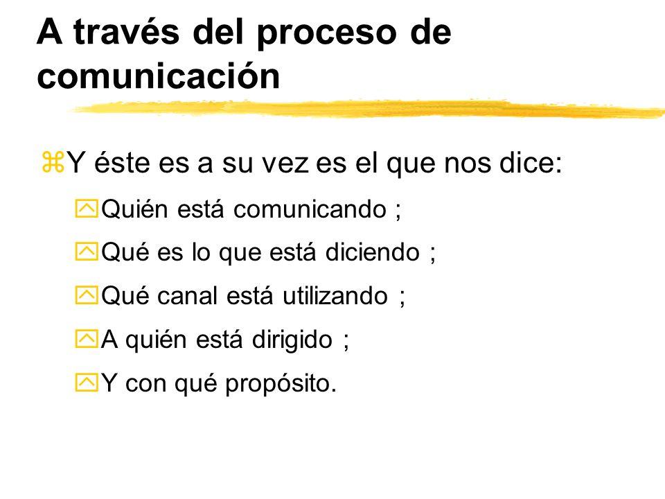 A través del proceso de comunicación