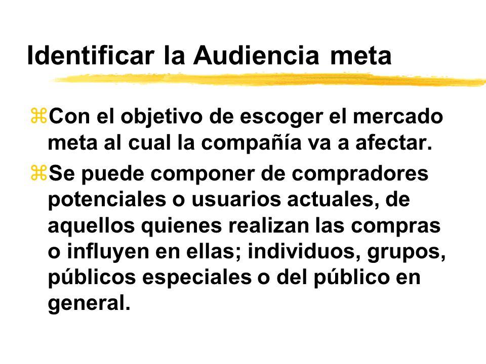 Identificar la Audiencia meta