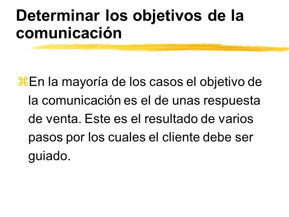 Determinar los objetivos de la comunicación