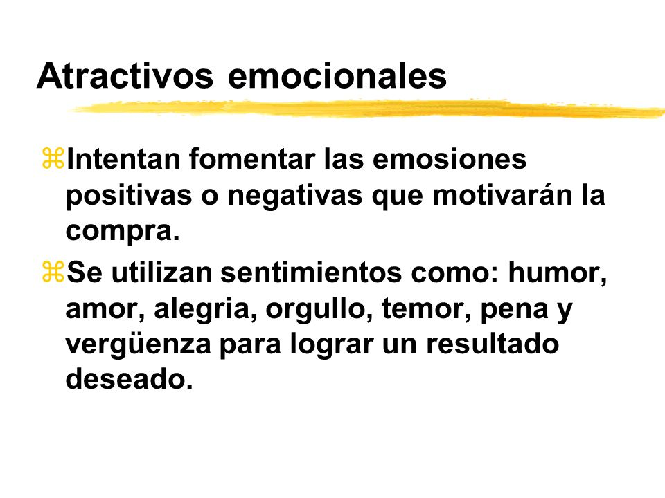 Atractivos emocionales