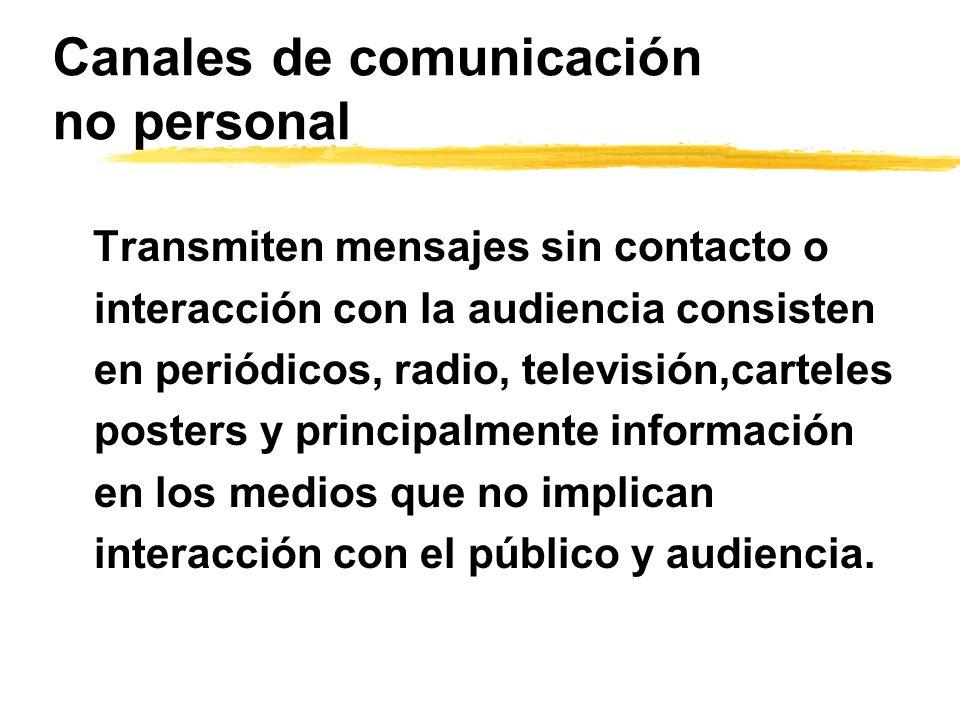 Canales de comunicación no personal